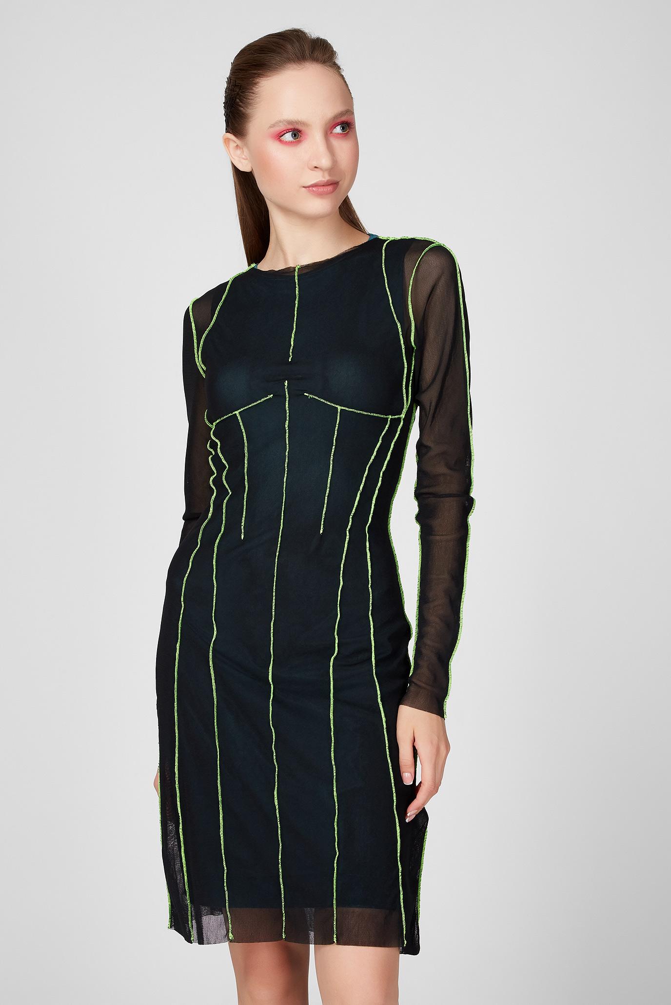 Женское черное платье D-VINA 1