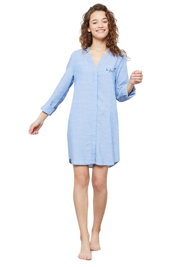 Женская голубая ночная рубашка SIBIL