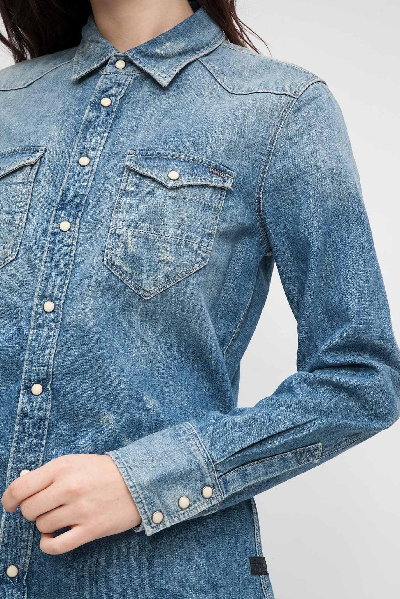 bfe692331f5 Купить Женская голубая джинсовая рубашка G-Star RAW G-Star RAW D04035