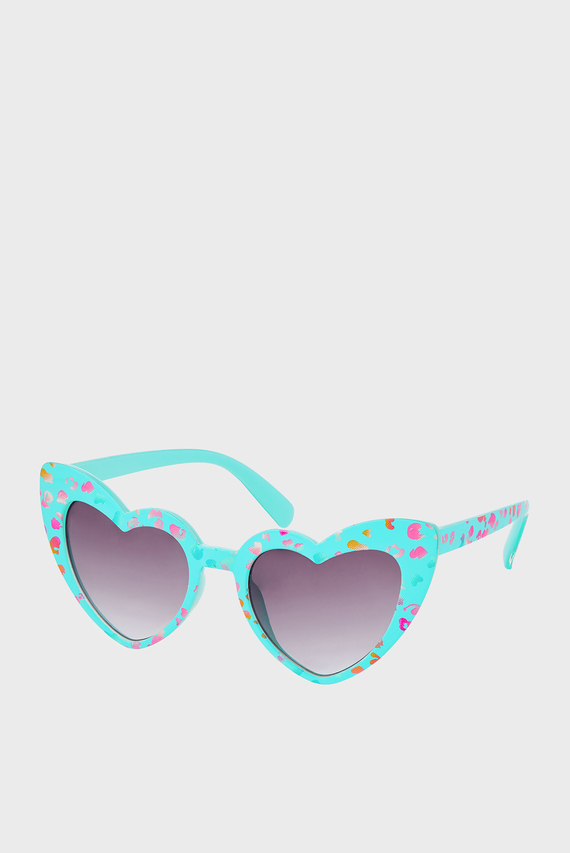 Детские голубые очки HEART LEOPARD PRINT