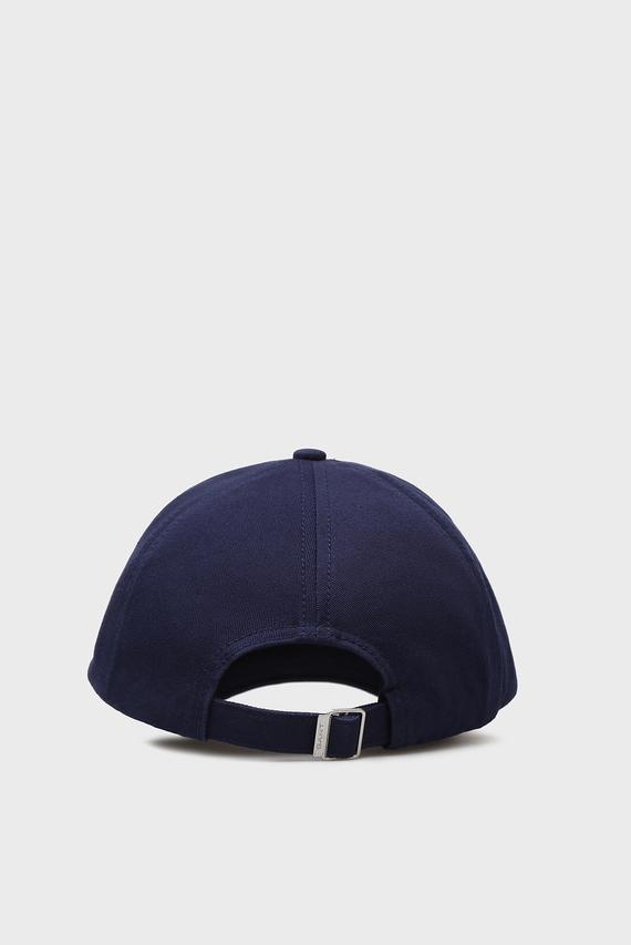 Мужская темно-синяя кепка с вышивкой