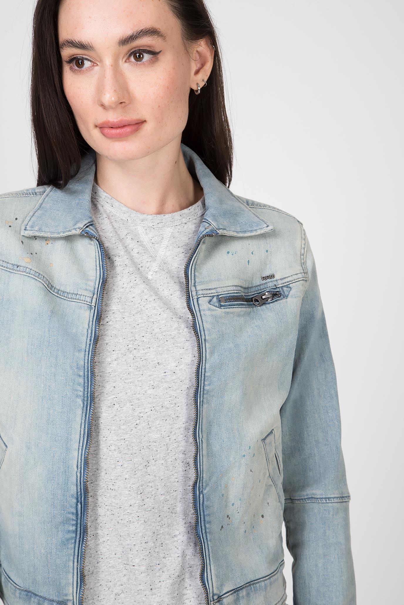 Женская голубая джинсовая куртка 5621 Slim Jkt G-Star RAW