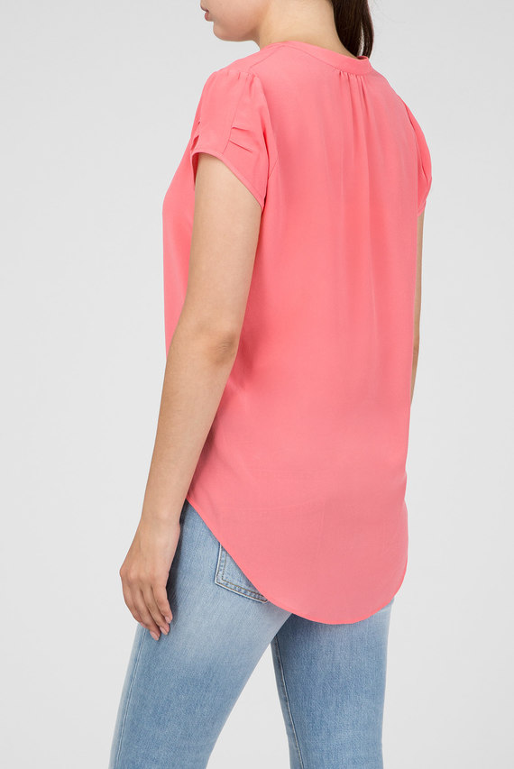 Женская розовая блуза