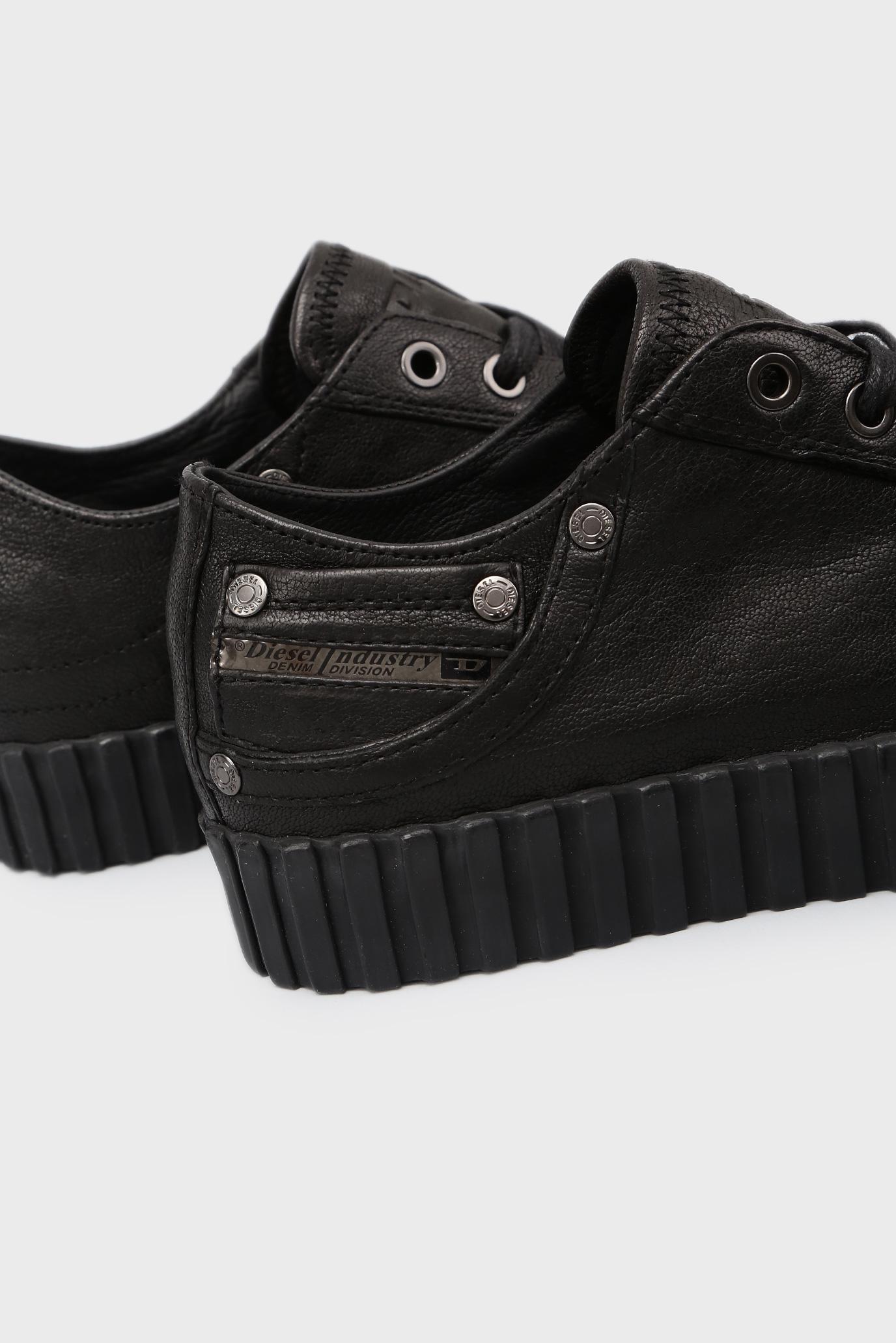 Купить Женские черные кожаные кеды Diesel Diesel Y01646 PR480 – Киев, Украина. Цены в интернет магазине MD Fashion