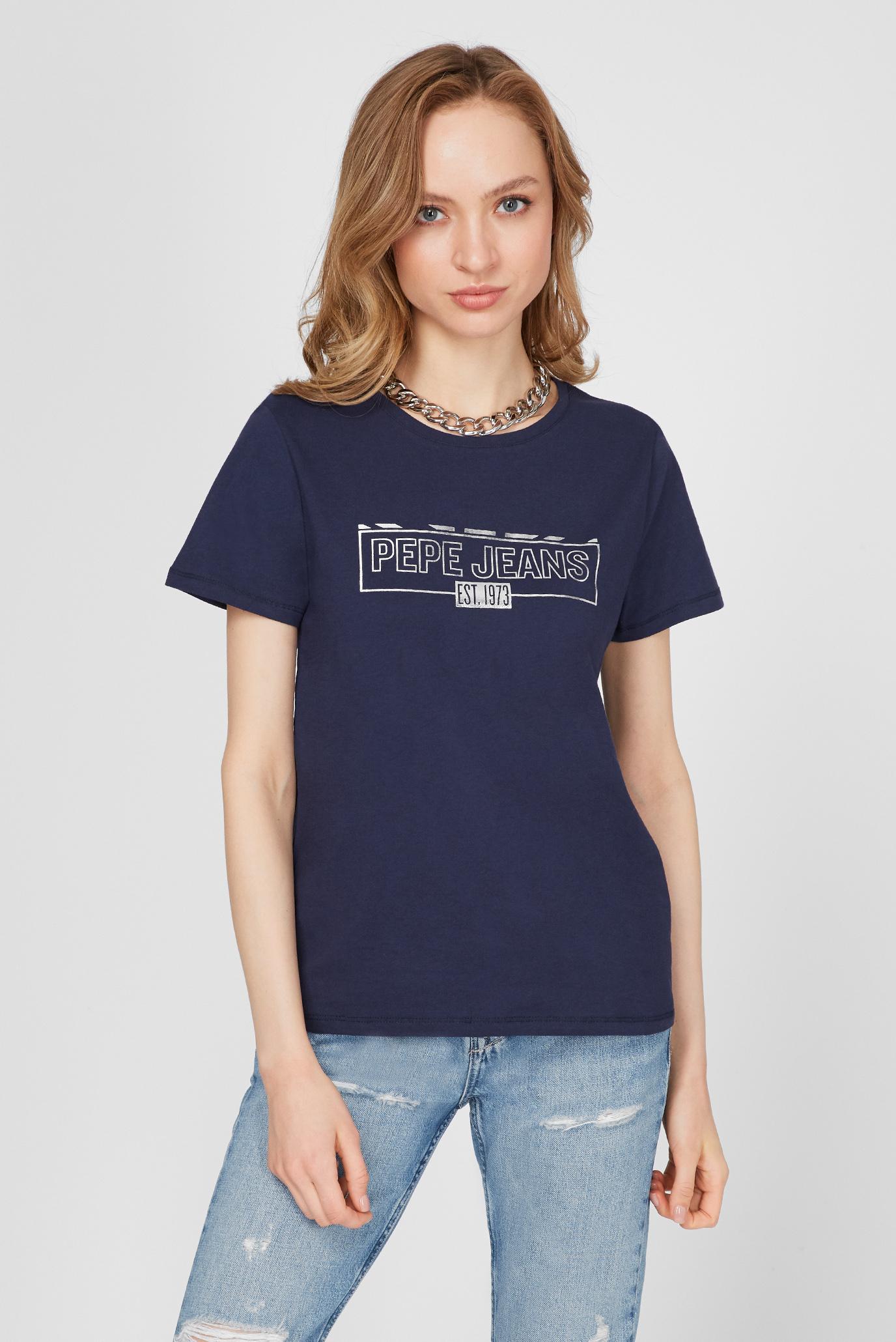 Женская темно-синяя футболка BETTY 1