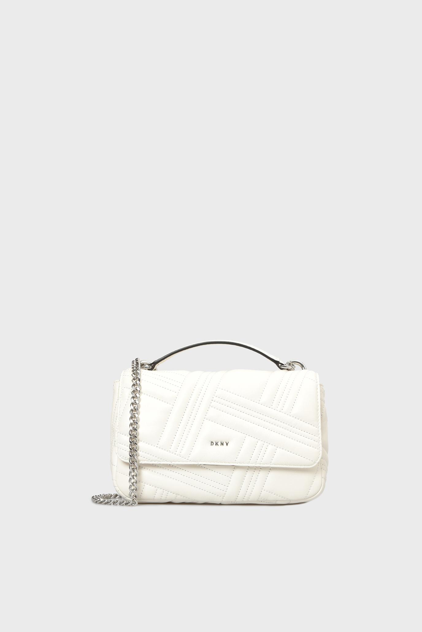 4006805b3ecf Купить Женская белая кожаная сумка на плечо ALLEN- MD DKNY DKNY R833B638 –  Киев, Украина. Цены в ...