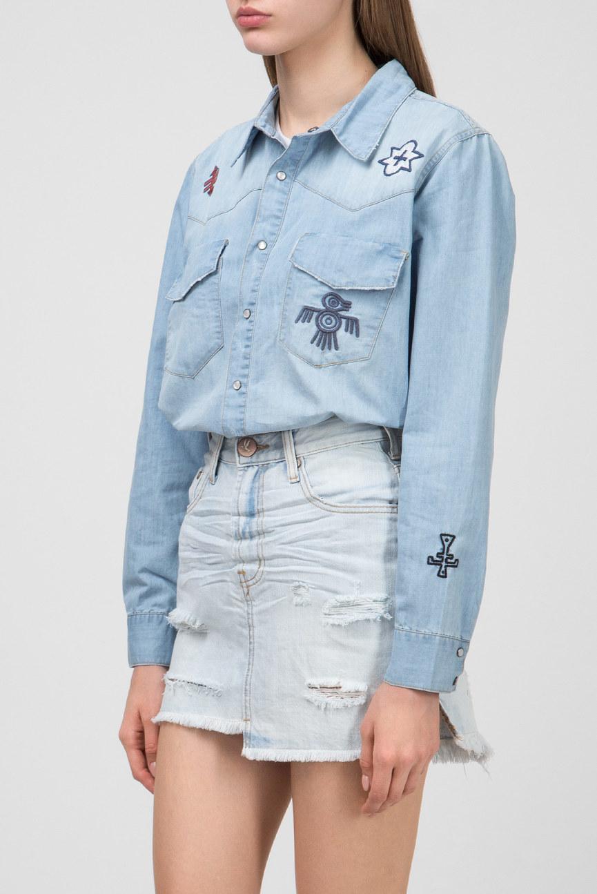 Женская голубая рубашка INDIANA