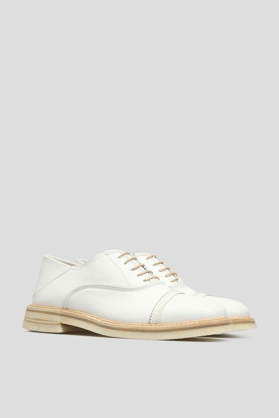 Женские белые кожаные оксфорды