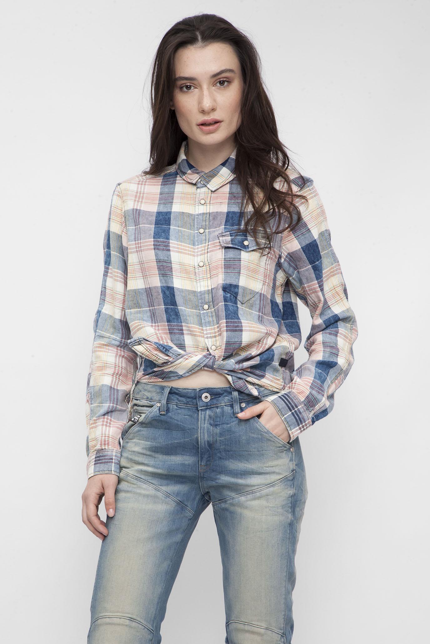 Купить Женская белая рубашка в клетку G-Star RAW G-Star RAW D01839,7957 – Киев, Украина. Цены в интернет магазине MD Fashion