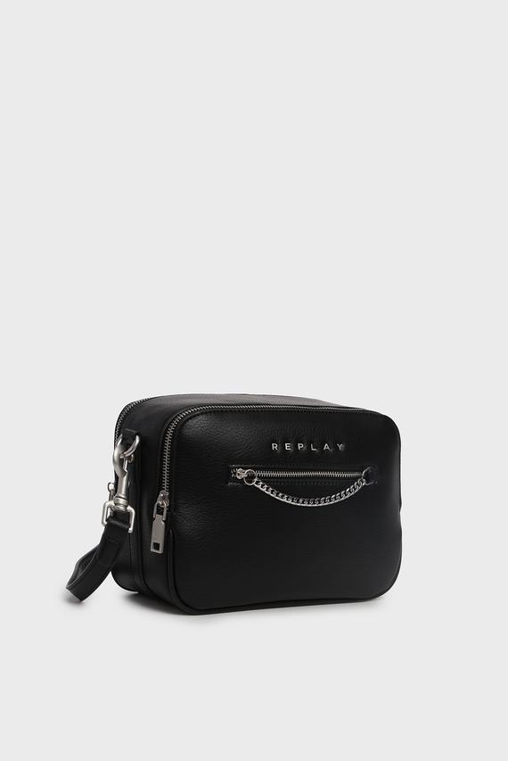 Женская черная сумка через плечо
