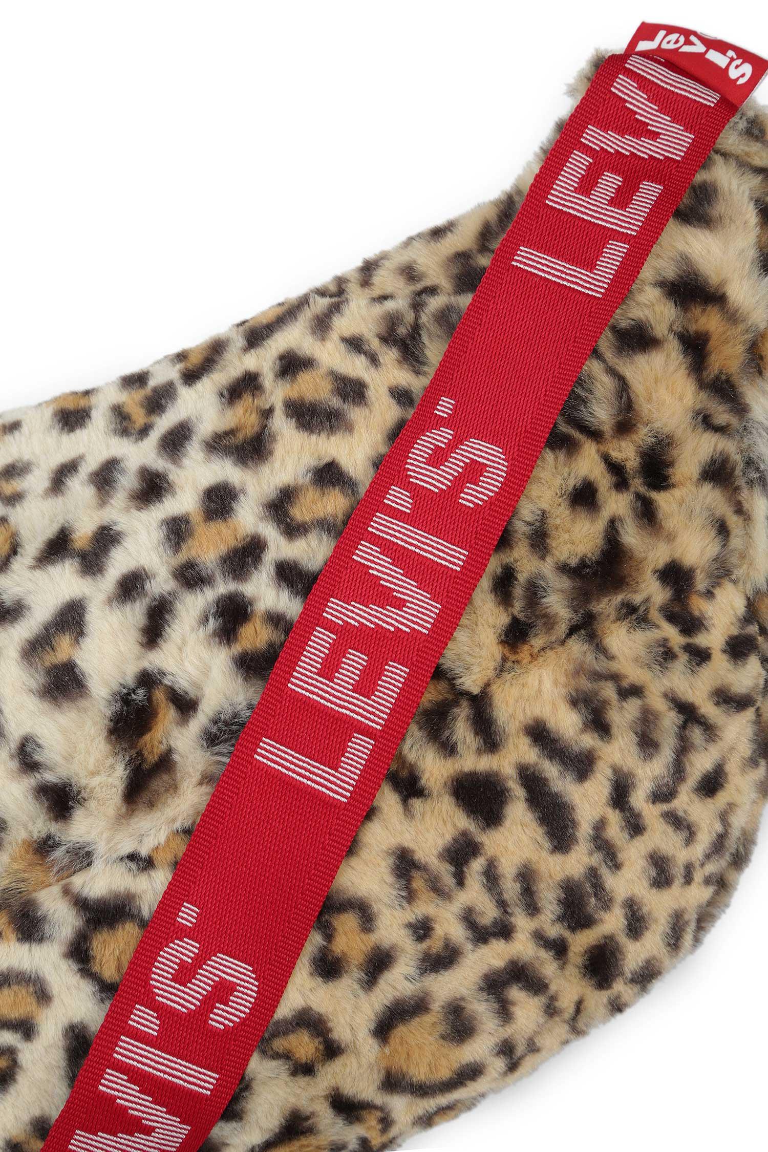 Женская леопардовая поясная сумка Levi's