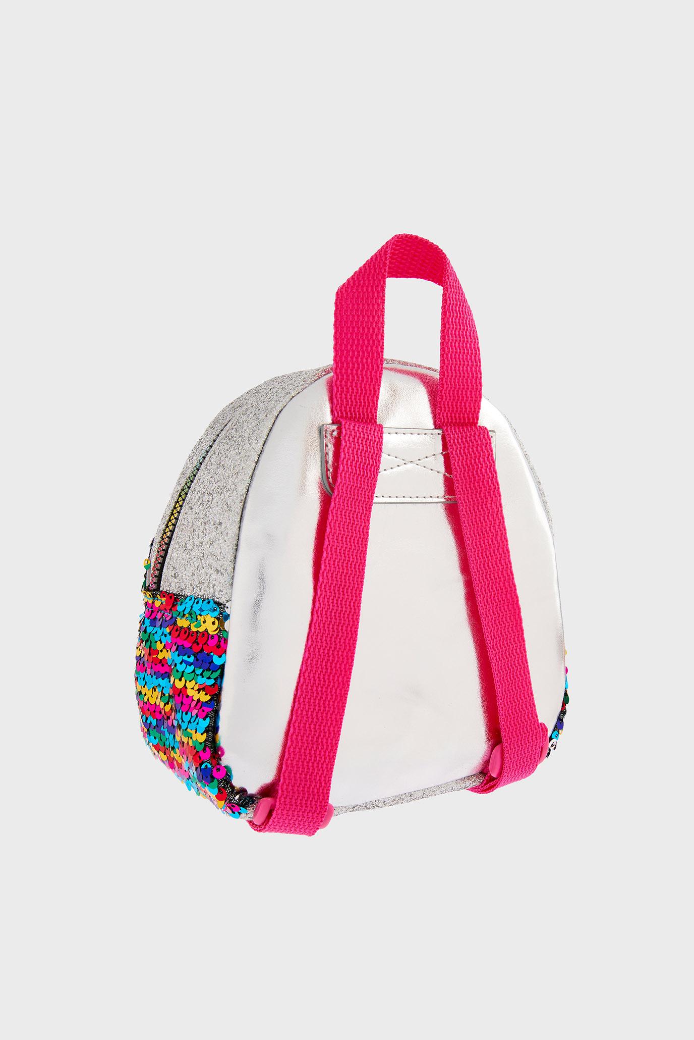 Детский серебристый рюкзак SEQUIN DOUBLE POCKET Accessorize