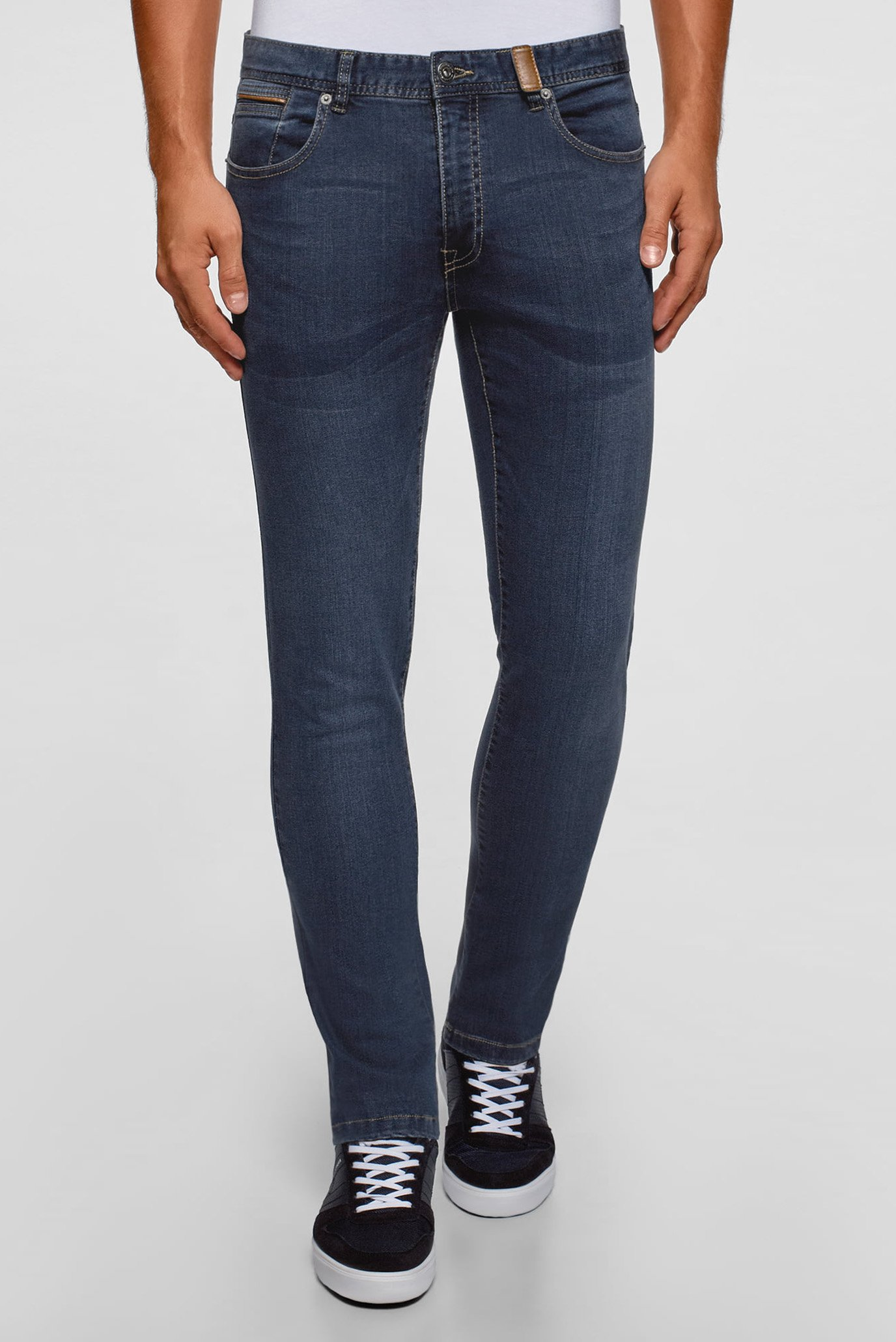 Купить Мужские темно-синие джинсы Oodji Oodji 6L120135M/45068/7800W – Киев, Украина. Цены в интернет магазине MD Fashion