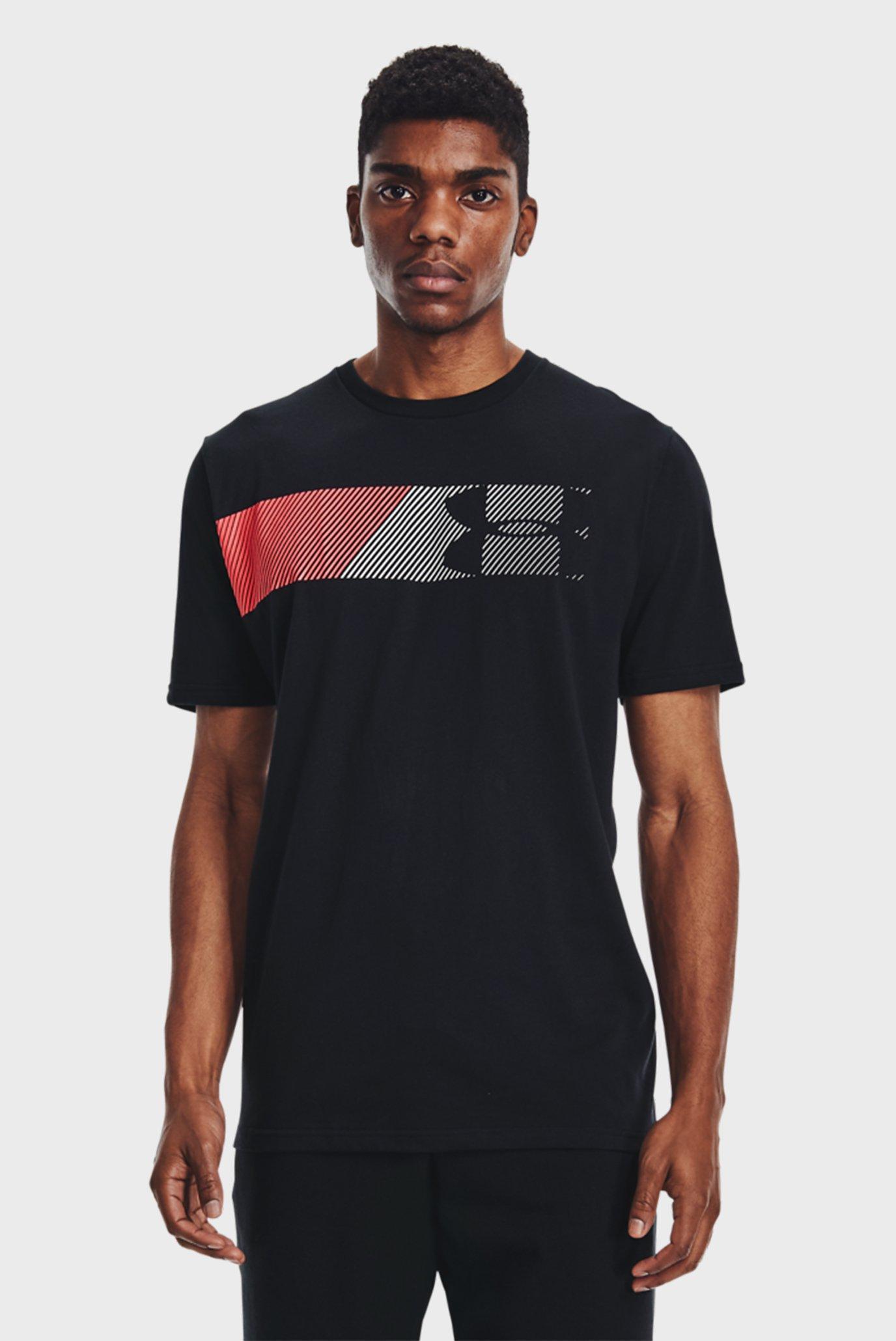 Мужская черная футболка UA FAST LEFT CHEST 2.0 SS-BLK 1