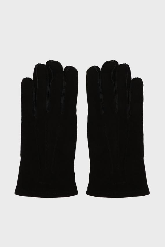 Мужские черные замшевые перчатки CLASSIC SUEDE