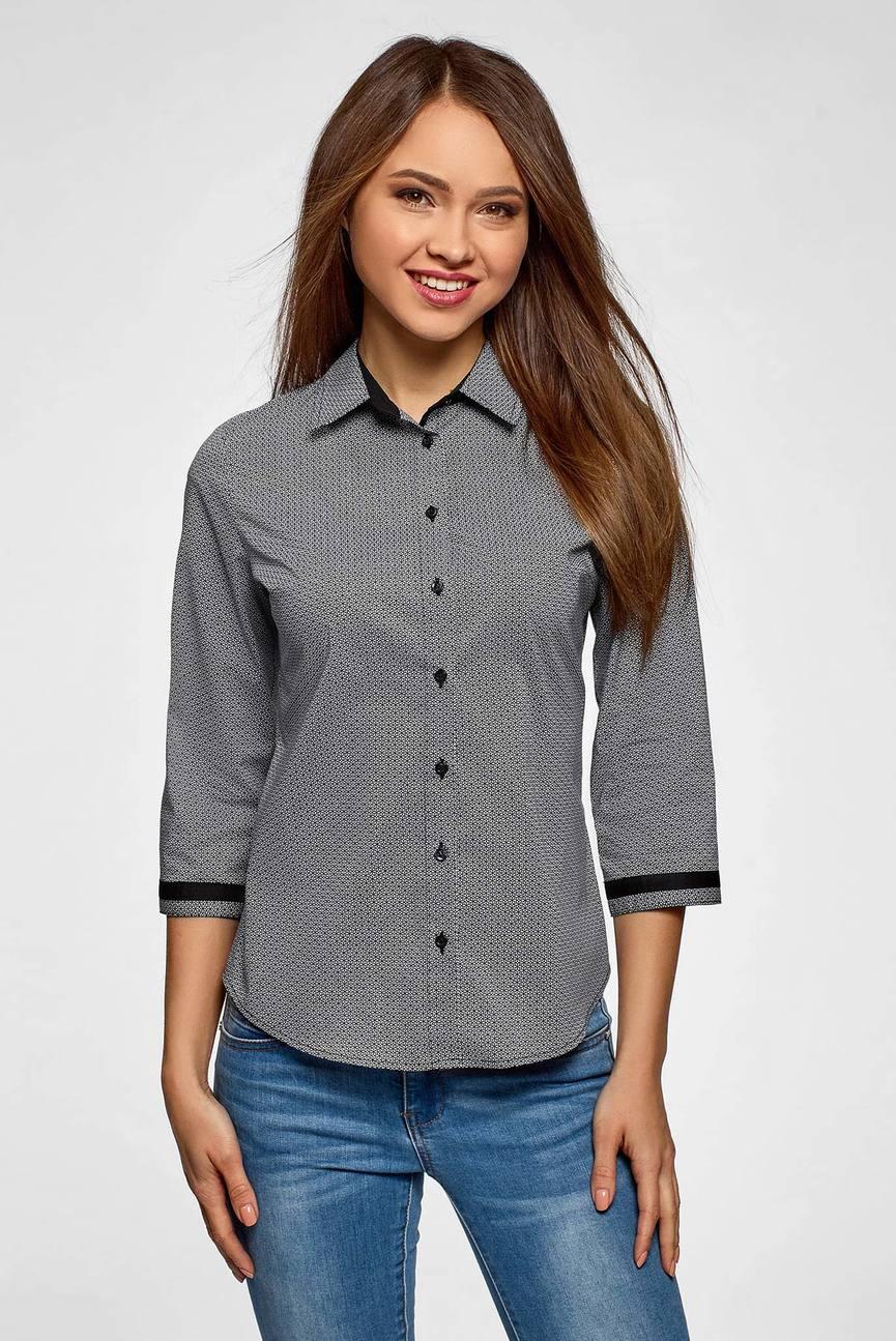 Женская серая блуза
