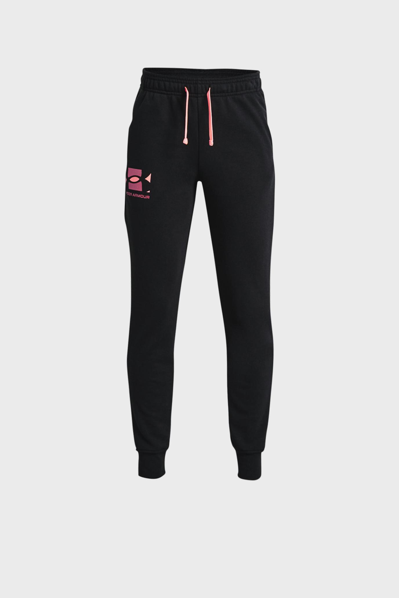 Детские черные спортивные брюки UA RIVAL TERRY PANTS 1