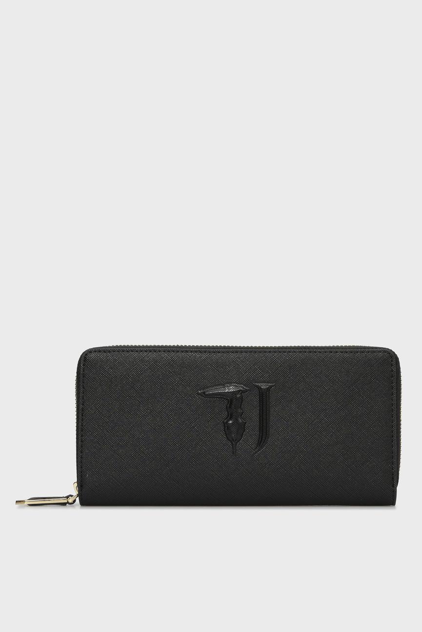 Женский черный кошелек ISCHIA