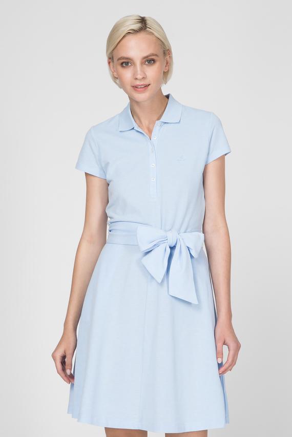 Женское голубое платье-поло OXFORD PIQUE