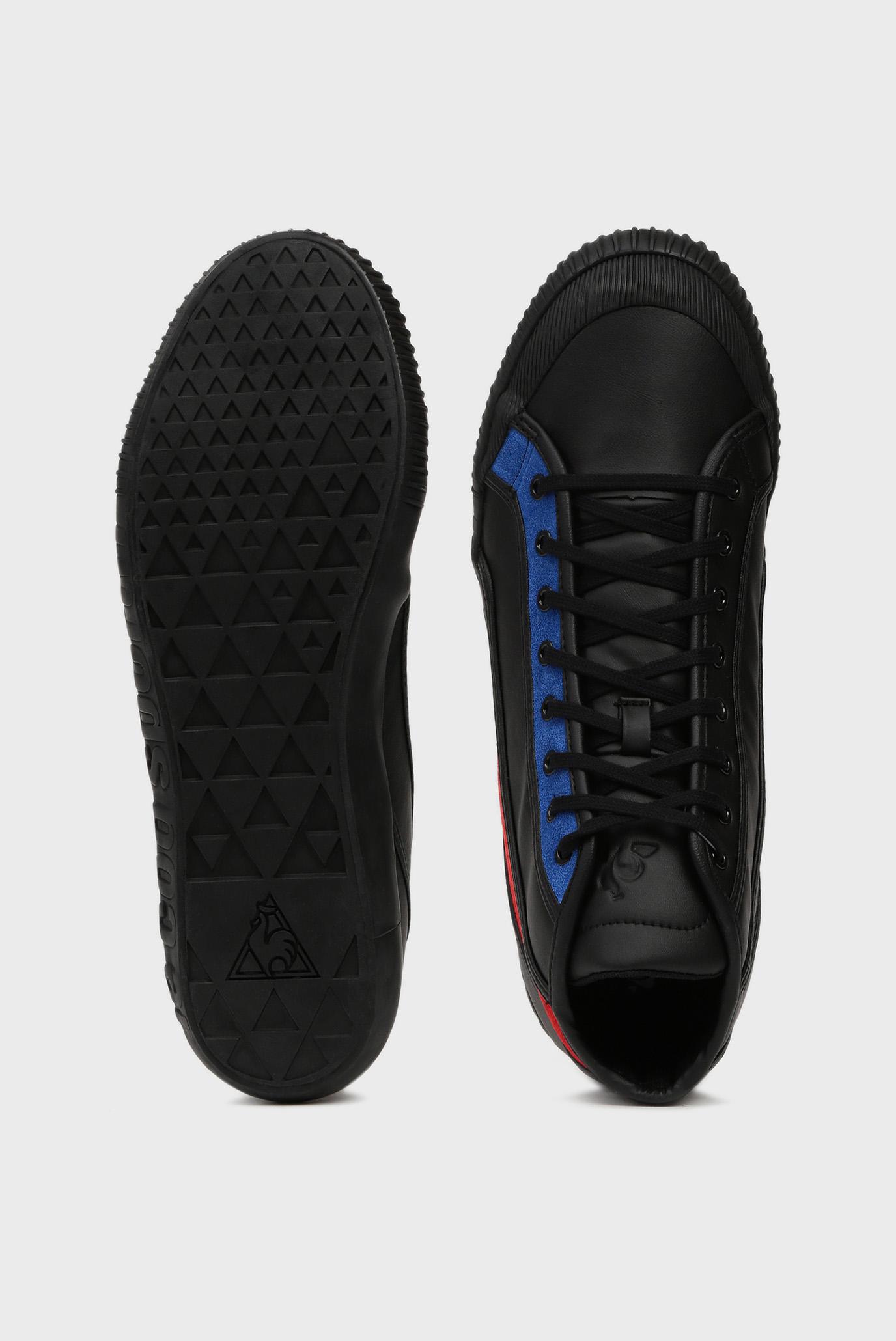 Мужские черные кожаные хайтопы NATIONALE MID TRICOLORE Le Coq Sportif