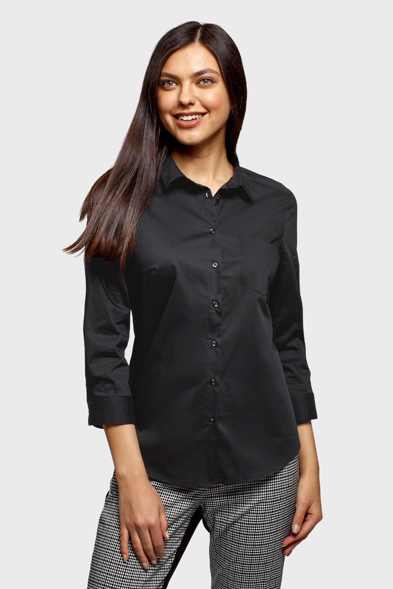 Женская черная блуза 1