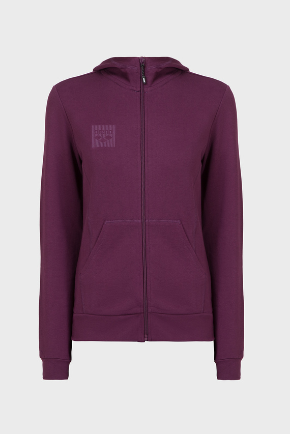 Женское бордовое худи W ESSENTIAL HOODED F/Z JACKET