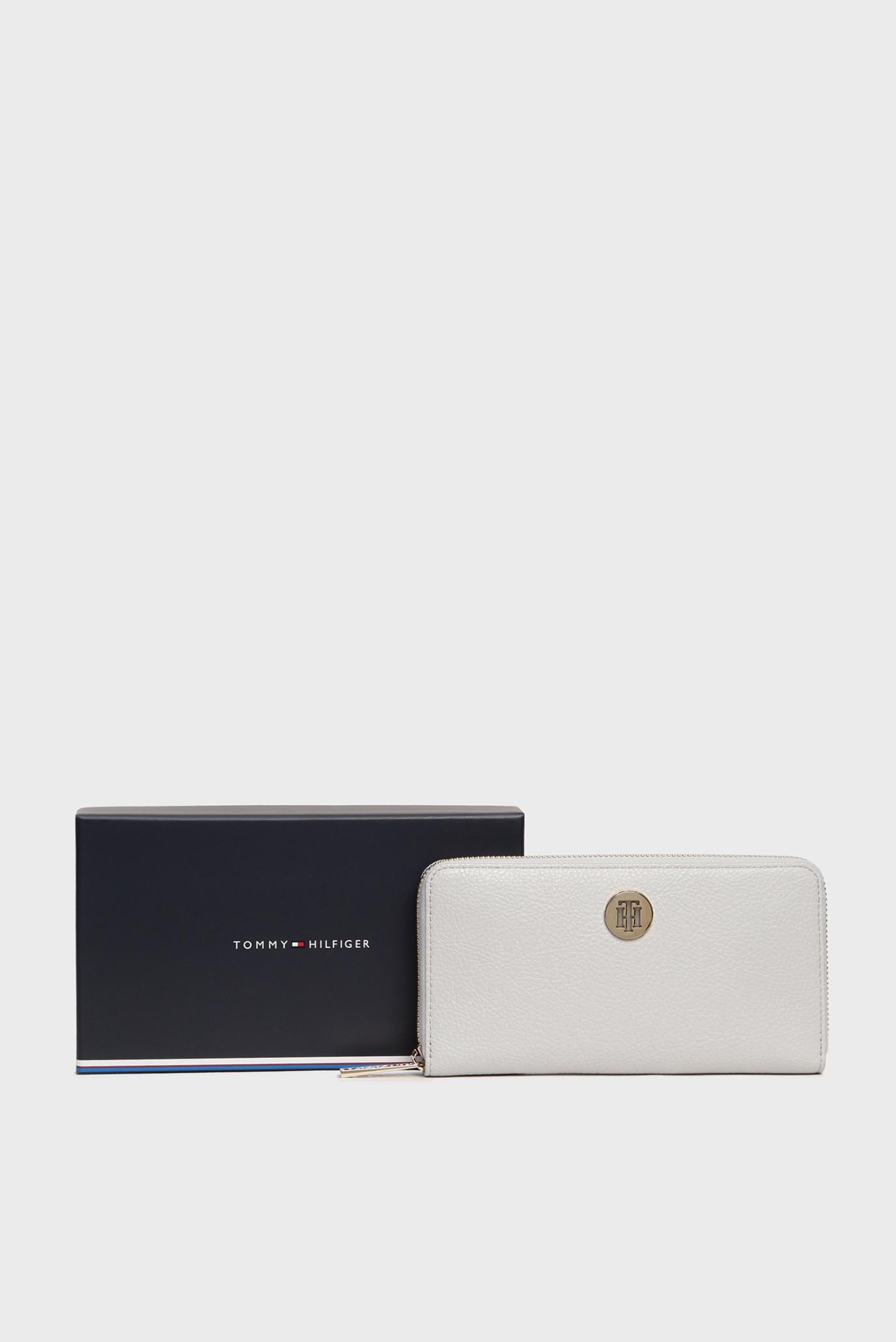 Женский серый кошелек TH CORE LRG ZA Tommy Hilfiger