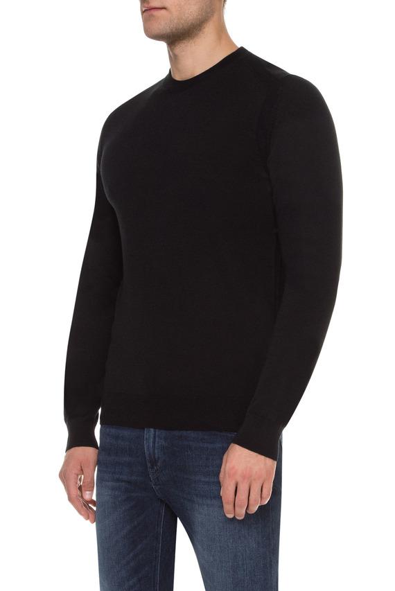 Мужской черный шерстяной джемпер