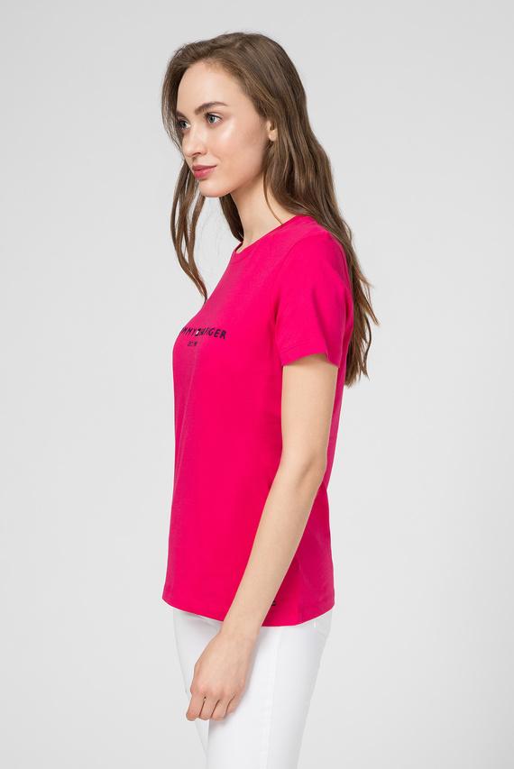 Женская розовая футболка NEW TH ESS