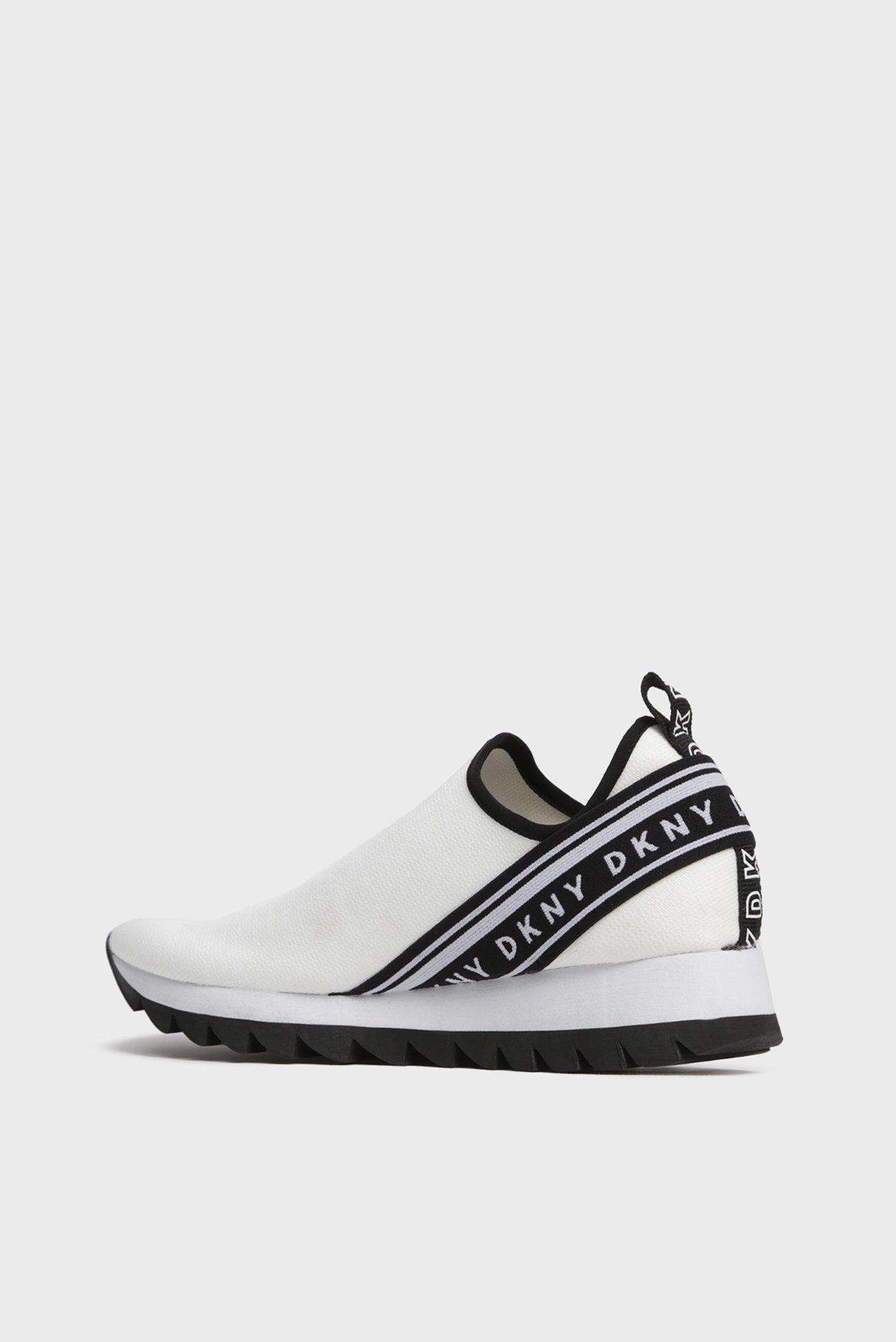 Женские белые кроссовки ABBI DKNY