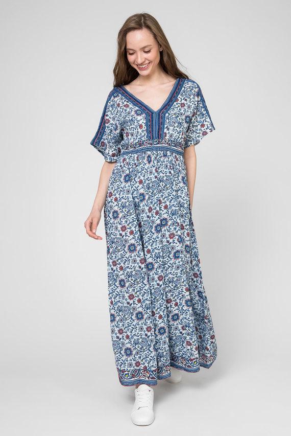 Женское синее платье с принтом GIGIT