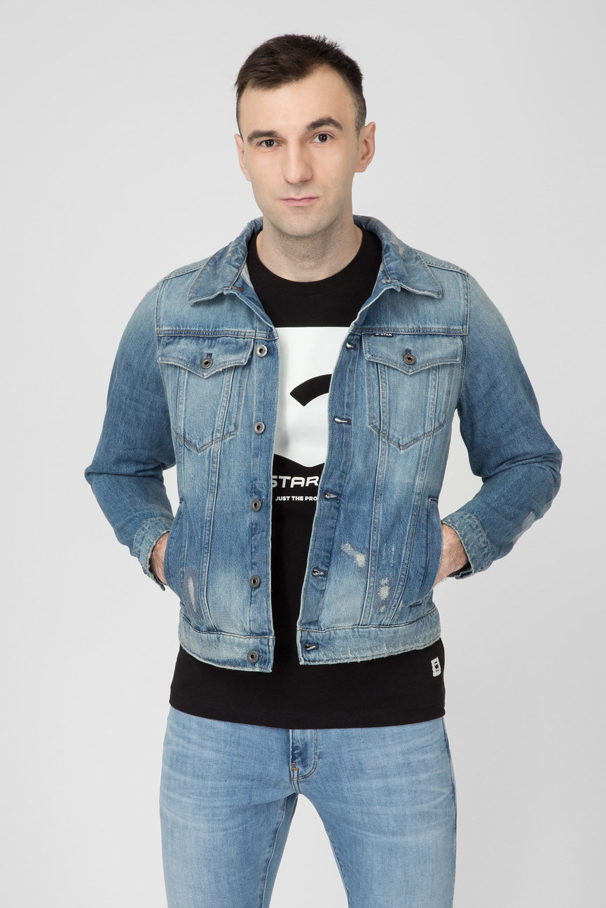 Мужская голубая джинсовая куртка 3301