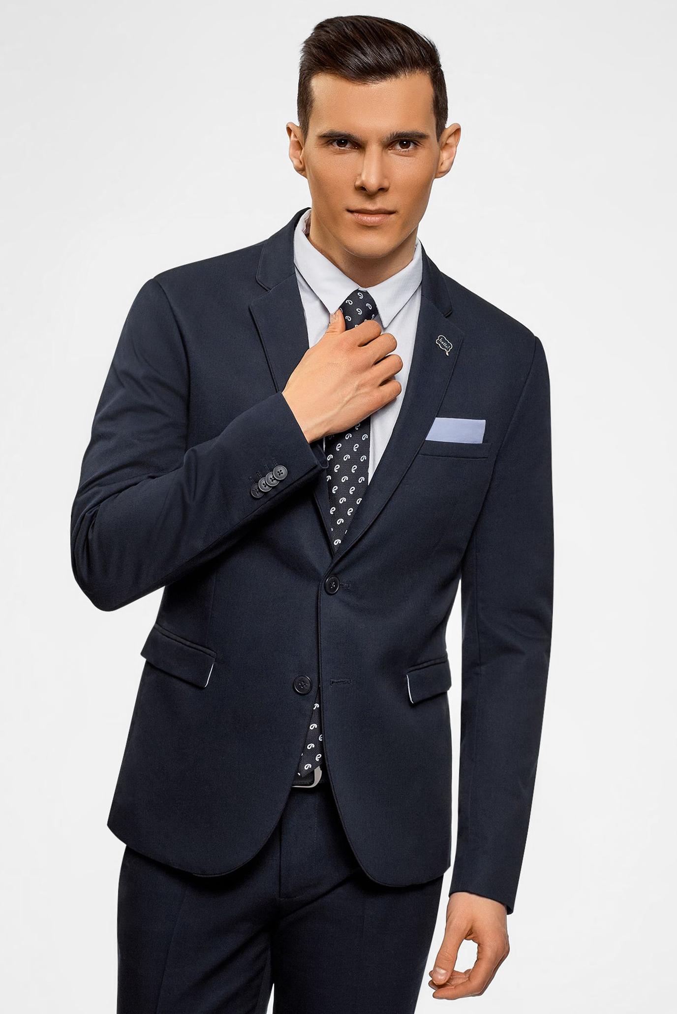 Купить Мужской темно-синий пиджак Oodji Oodji 2L420219M/48137N/7900N – Киев, Украина. Цены в интернет магазине MD Fashion