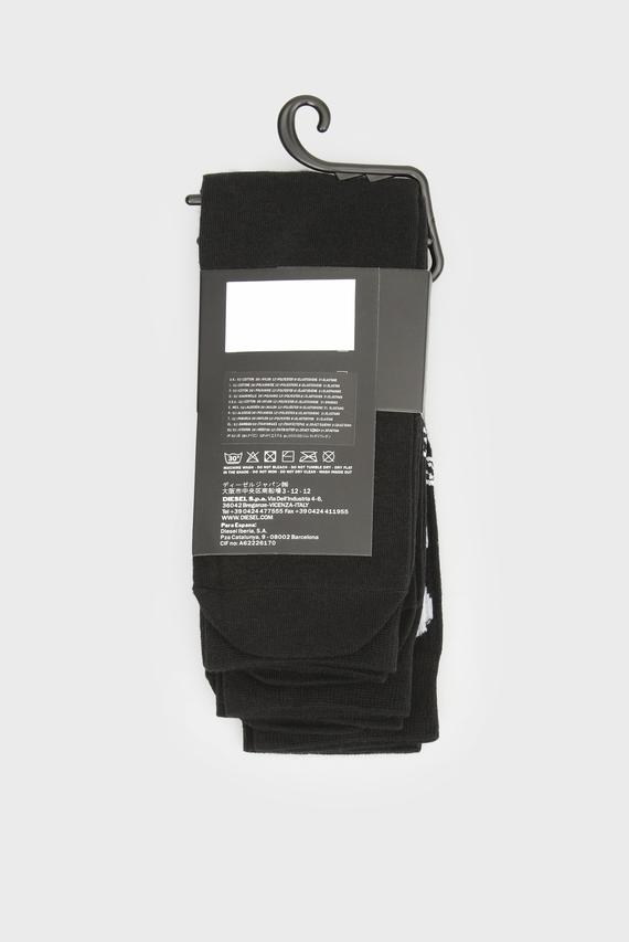 Мужские черные высокие носки (3 пары)