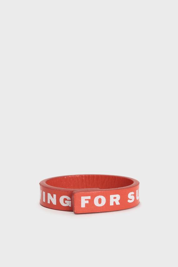 Мужской оранжевый кожаный браслет A-CONCO