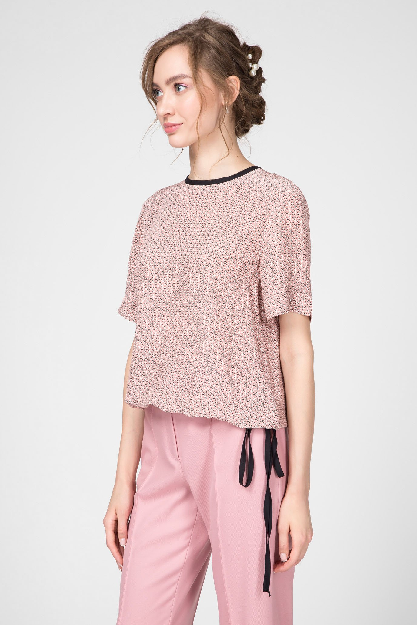 Женская блуза с узором Calvin Klein