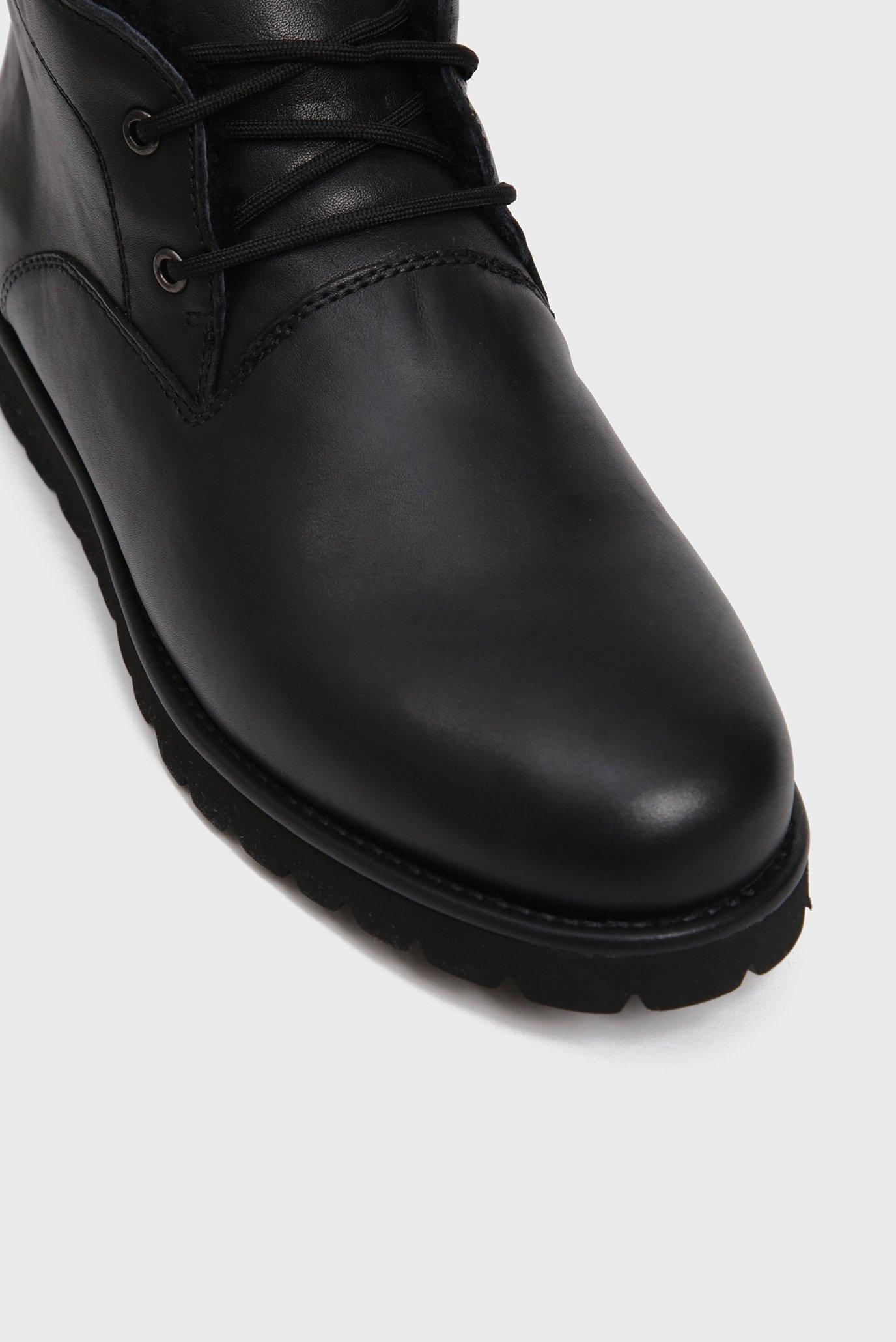 Мужские черные кожаные дезерты с мехом Teslin Preppy