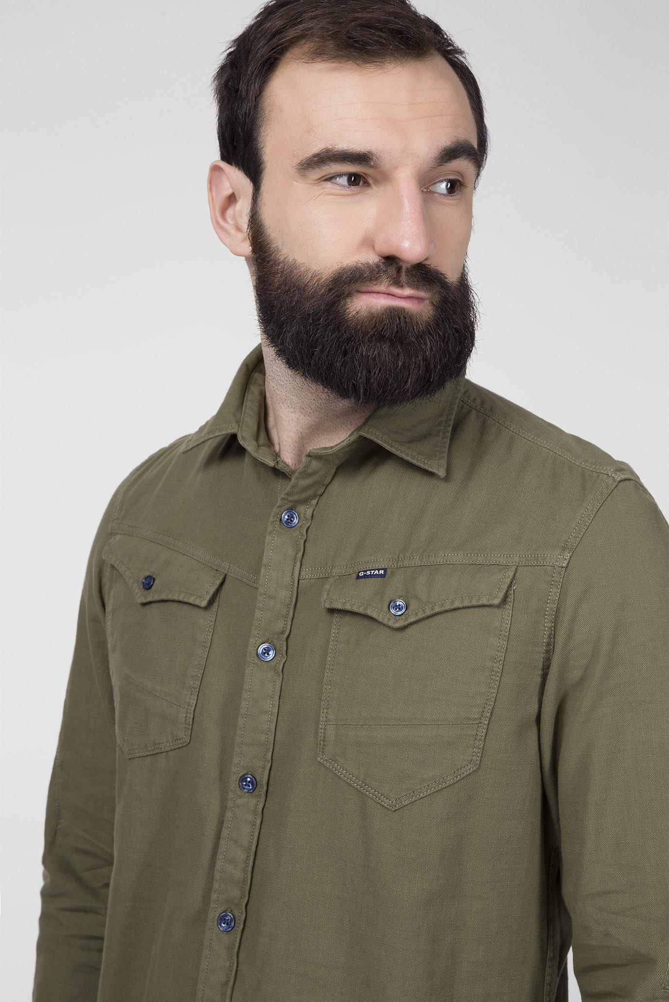 Мужская зеленая рубашка Arc 3d Slim G-Star RAW