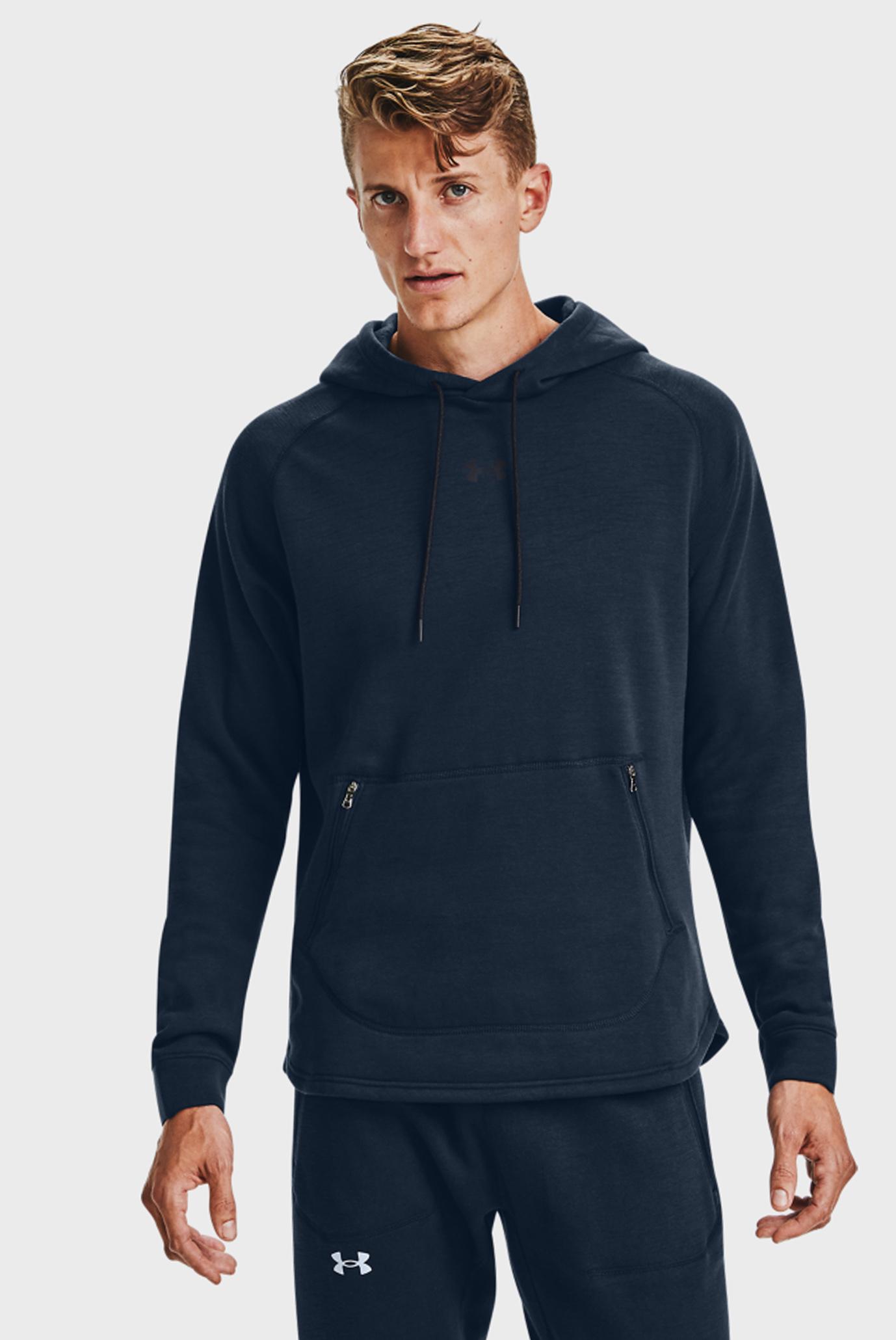 Чоловіче темно-синє худі UA Charged Fleece HD 1