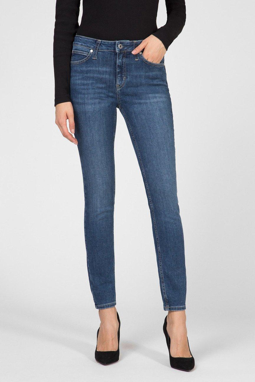 Женские синие джинсы SKINNY JEAN - MID BLUE