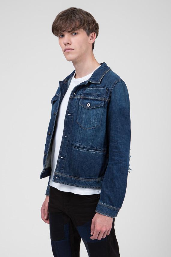 Мужская синяя джинсовая куртка D-Staq RFTP Water 3D