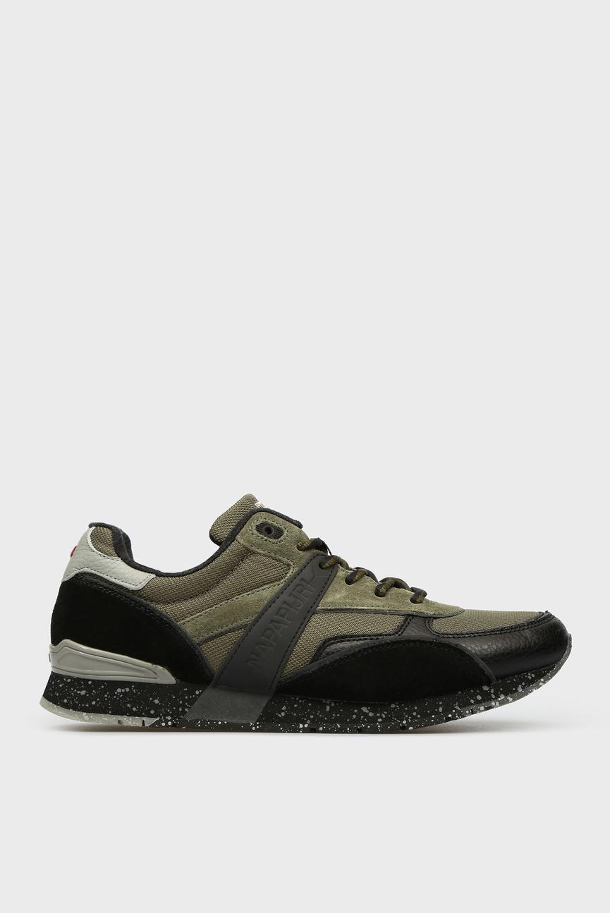 Мужские зеленые замшевые кроссовки