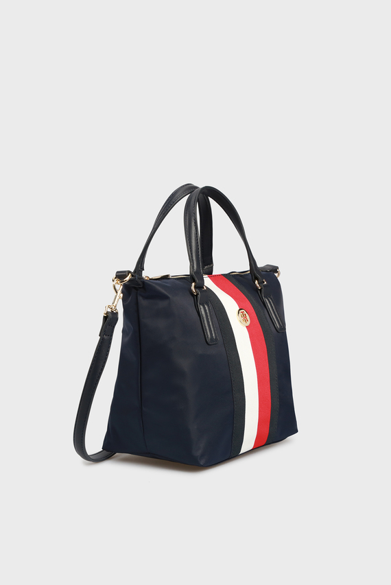 Женская темно-синяя сумка через плечо POPPY