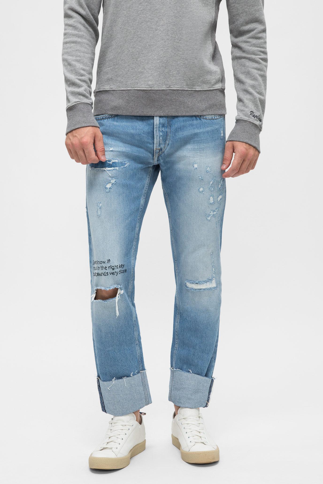 Мужские голубые джинсы GROVER Replay MA972V.000.108 D16 — MD-Fashion, баркод 8054381795910