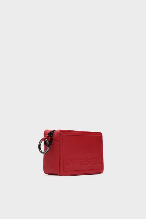 Женская красная кожаная сумка через плечо KUB8 / ROSA