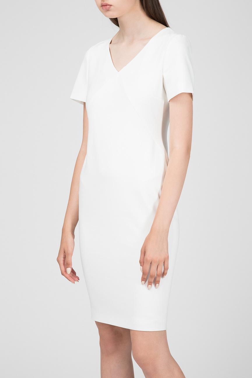 Женское белое платье-футляр DANA
