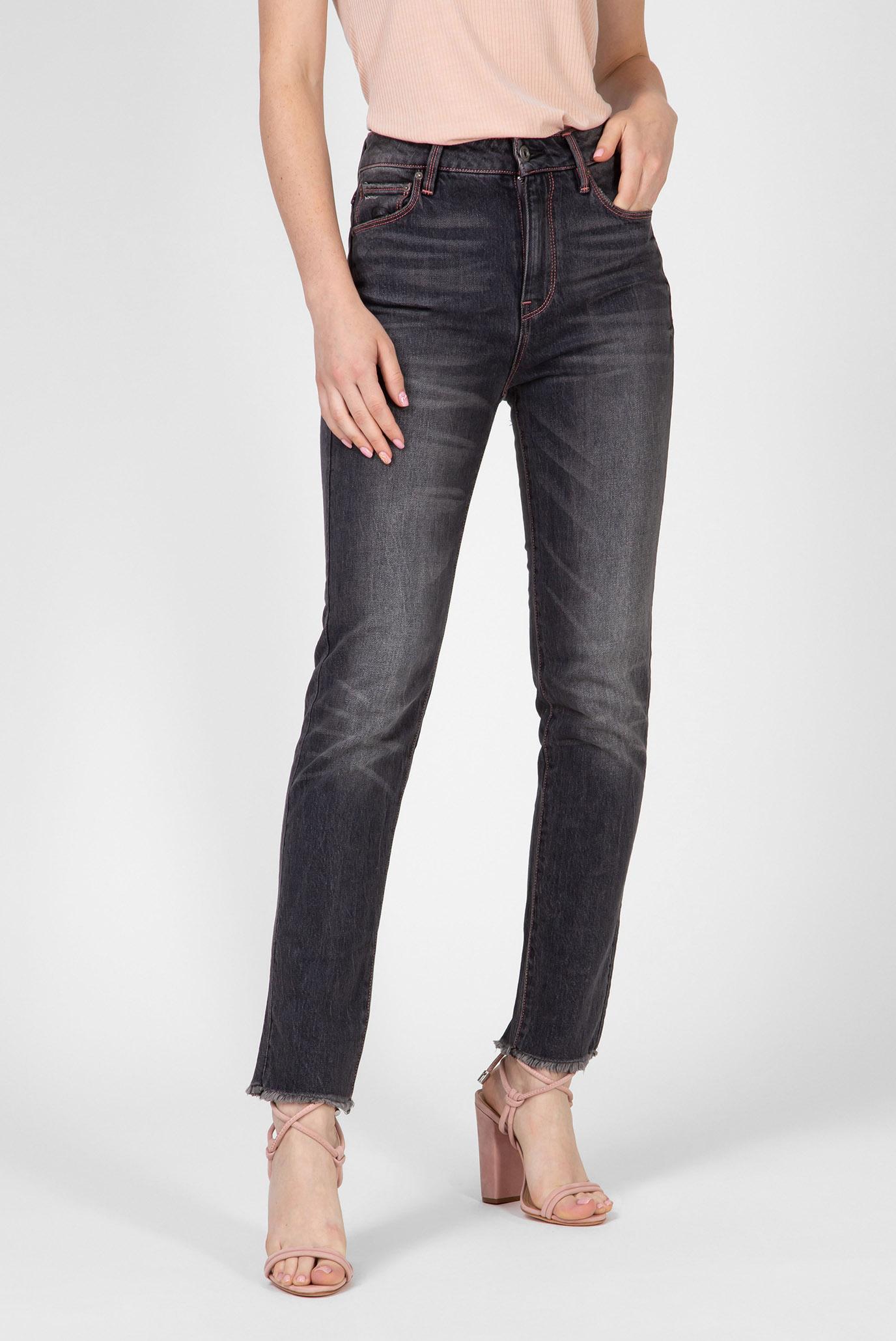 Женские серые джинсы 3301 rp High Straight Ankle Wmn G-Star RAW