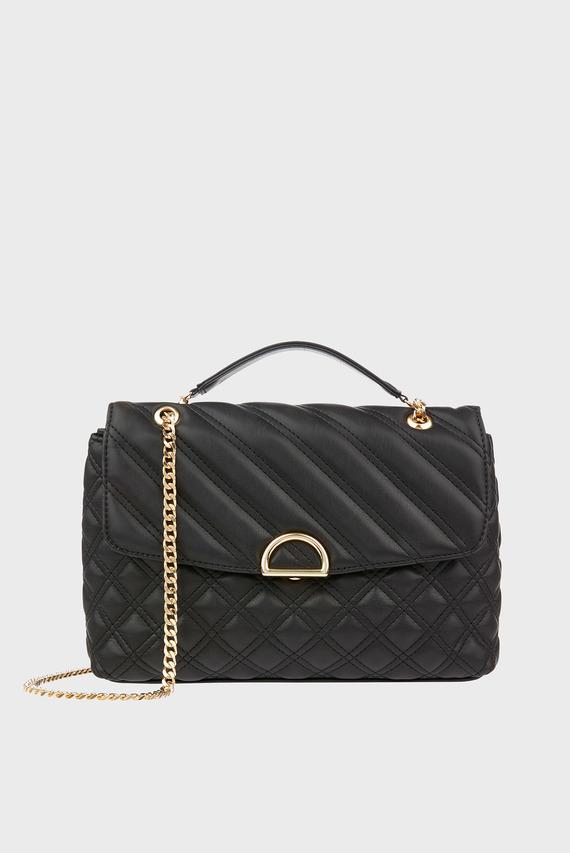 Женская черная сумка через плечо AYDA QUILTED SHOULDER