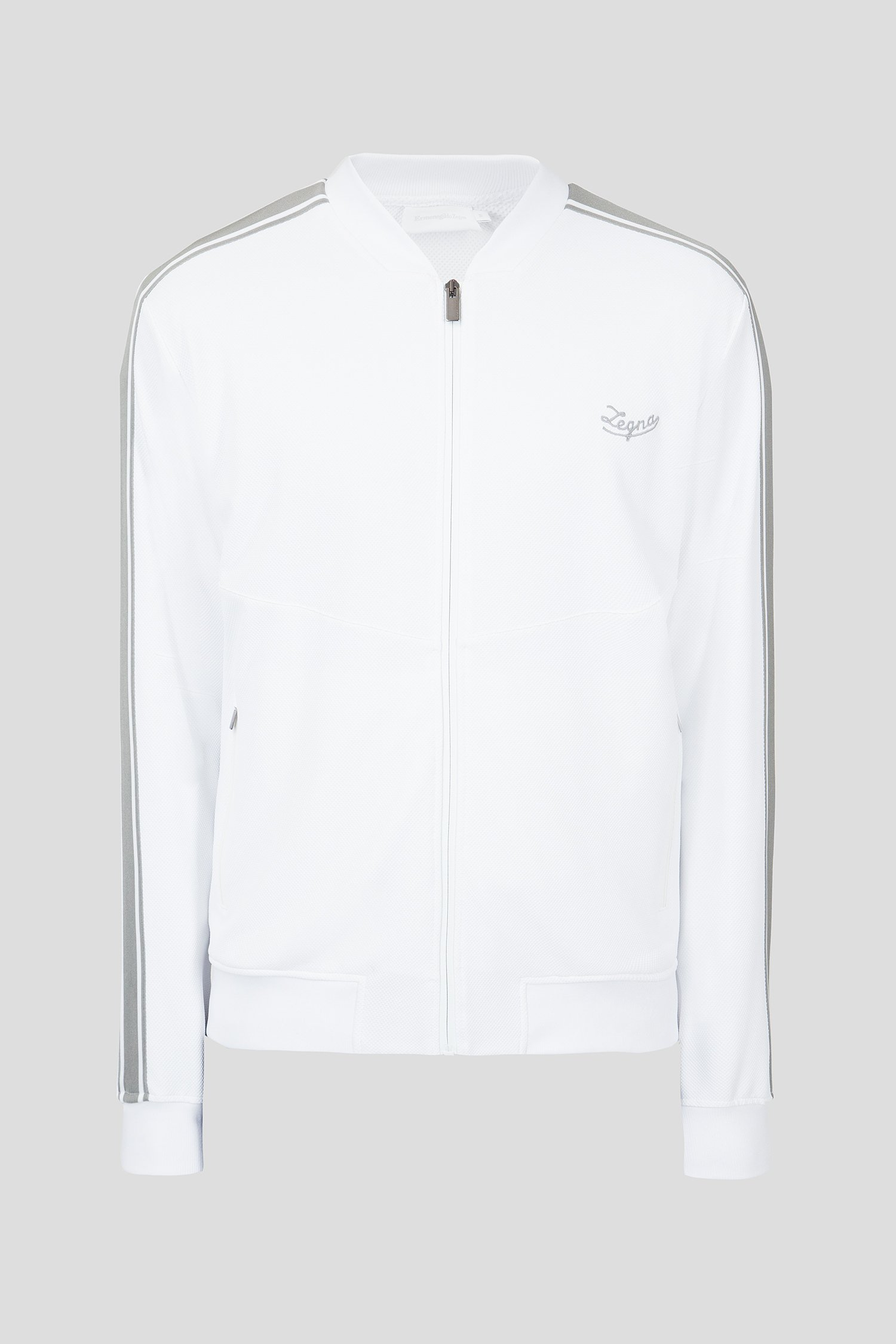 Купить Мужская белая спортивная кофта Ermenegildo Zegna Ermenegildo Zegna N6MG90670-100 – Киев, Украина. Цены в интернет магазине MD Fashion