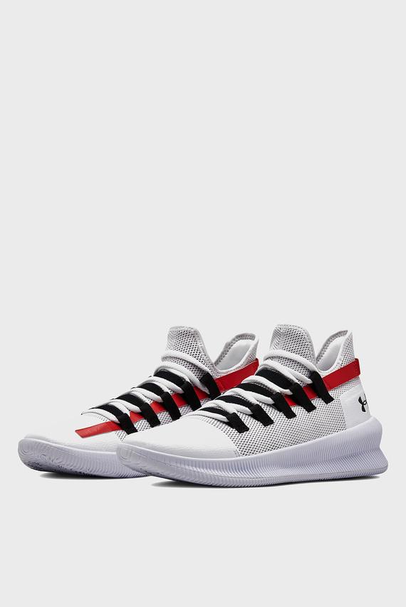 Мужские белые кроссовки для баскетбола UA M-TAG Low